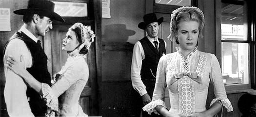 """Ο Γκάρυ Κούπερ και η Γκρέης Κέλλυ στην ταινία """"Το τραίνο θα σφυρίξει τρεις φορές"""" [1952], του Φρεντ Τσίνερμαν"""