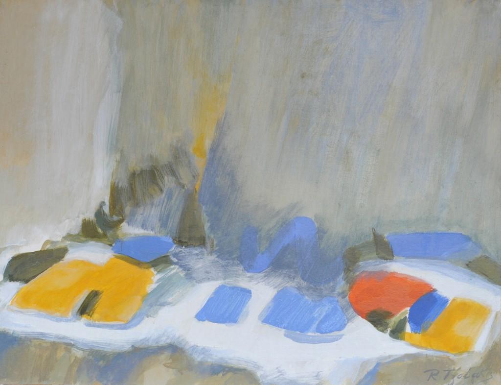 14-RenaTZOLAKIS-Silence-dans-la-solitude-Acrylique-sur-papier-marouflé-sur-toile-50X60-Photo-Georges-BIJOURAS