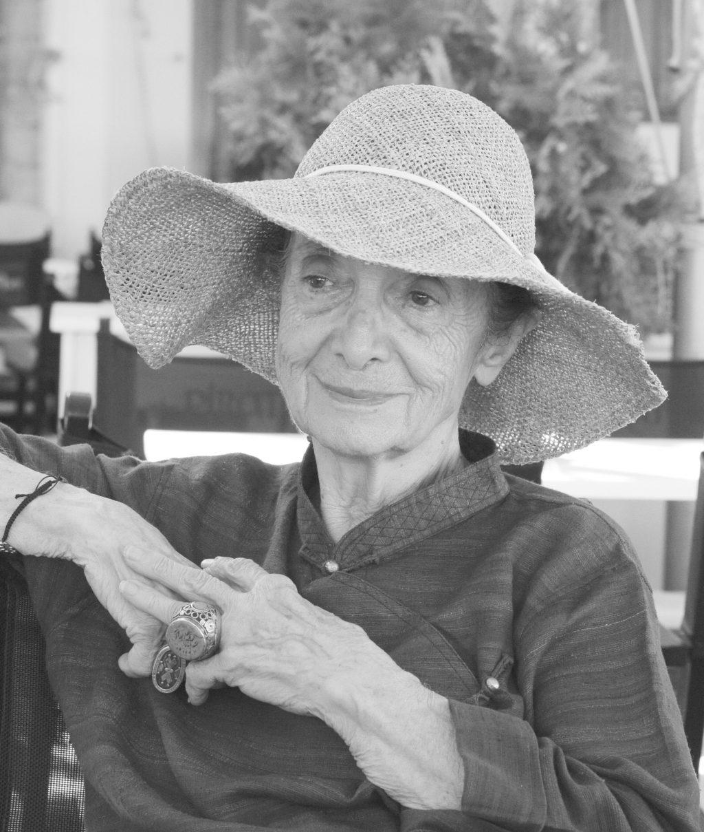 Η ελληνίδα ζωγράφος Ρένα Τζολάκη. Ύδρα, Σεπτέμβριος 2015. Φωτό : GAB