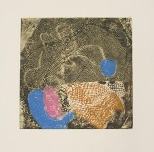 Rena Tzolakis, Appel sans réponse, Gravure sur metal en couleurs.