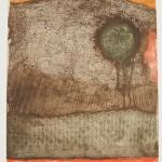 Rena Tzolakis, Et après   Gravure sur metal en couleurs, 49,5X59,5.