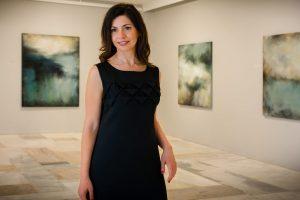 Η Ξανθίππη Τσαλίμη, στην Αίθουσα Τέχνης Αθηνών.